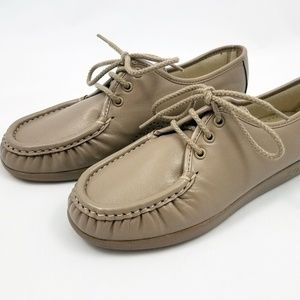 SAS Leather Loafers Lace Up Comfort Walking Shoes